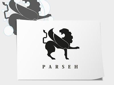 Parseh - Logo design identity logo parseh persian lion symbol