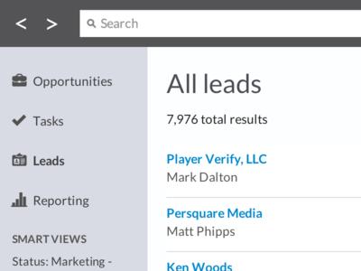 Close.io Goes Flat close.io crm search sales web webdesign flat