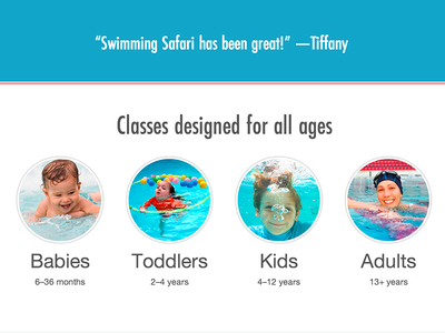 All Ages swimmingsafari web homepage ages