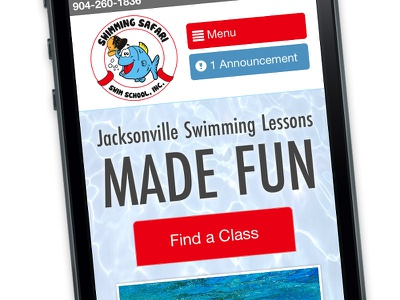 Mobile First swimmingsafari web homepage jacksonville responsive mobile mobilefirst