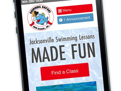 Mobile First swimmingsafari web homepage jacksonville responsive mobile mobilefirst