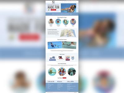 Swimming Safari Homepage webdesign expressionengine swimmingsafari web homepage jacksonville responsive bootstrap bootstrap3 mobilefirst swimming