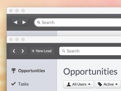 Redesigning toolbar toolbar redesign closeio web mac osx dark bootstrap