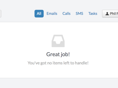 Empty state for Inbox sales inbox crm email ui web