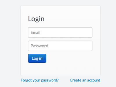 Bootstrap Login Form By Phil Freo Dribbble