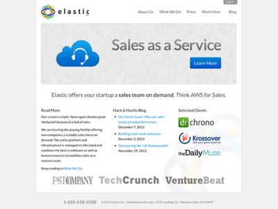 ElasticSales.com Homepage web homepage