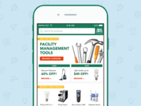 Home Screen – E-Commerce App Concept
