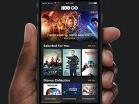 HBO GO – iPhone App Redesign Concept