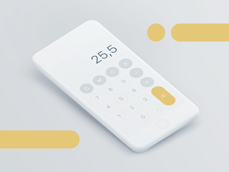 ⚡️ Calculator – UI Challenge challenge ux clean daily ui ui ios minimal calculator