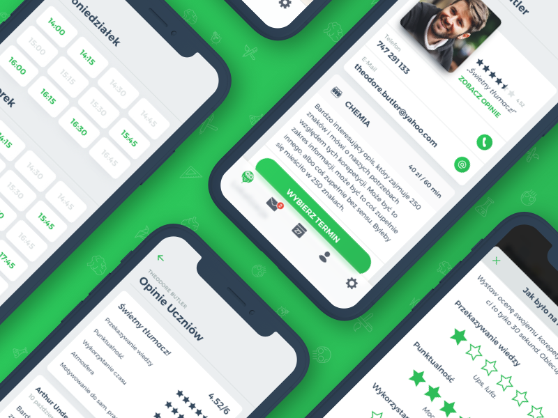 🦉 Korki – Teachers Profile and Rating profile rating ios 11 iphone x user interface ux ui teacher ios private lessons school korki