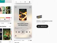 🎧 Minimal Audiobook Player (Sketch Freebie)