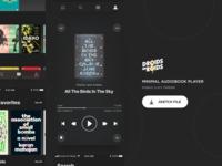 🎧 Minimal Audiobook Player – Night Mode (Sketch Freebie)
