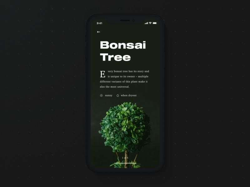 🍃 Plants: Intro Screen visual design iphone x flower plant app user interface app design minimal ui ux ios