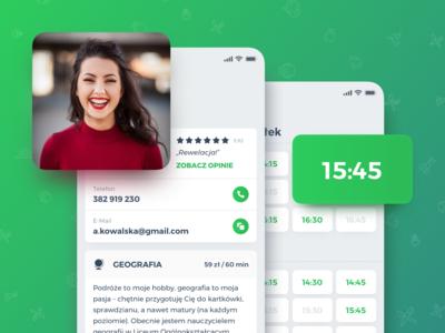 🦉 Korki – User Profile + Availability