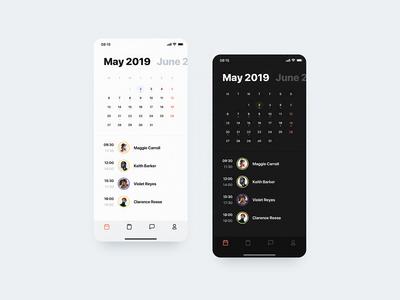 🏄🏻♂️ Calendar View (Light & Dark Mode)