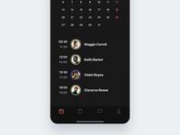 🏄🏻♂️ Calendar View (Dark Mode)
