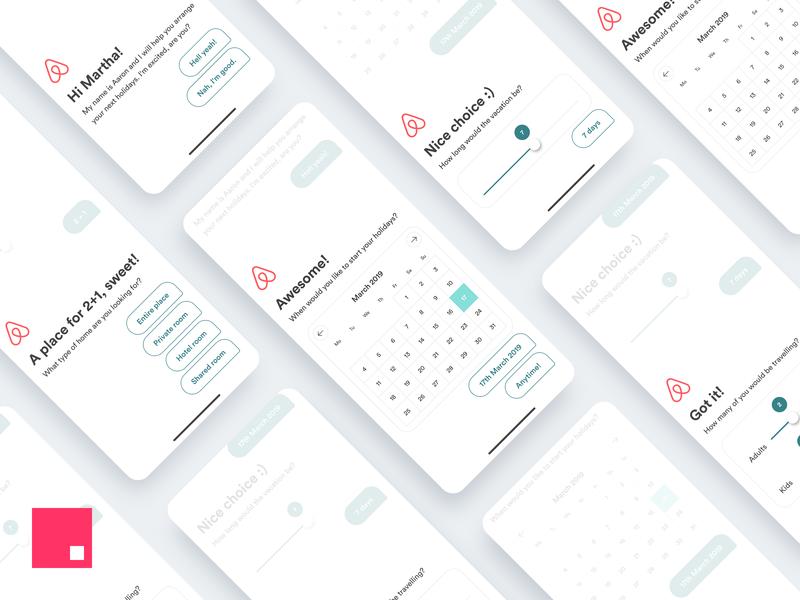 🧳 Airbnb Booking Assistant – Travel Agent Concept ai concept ios app design minimal iphone x invision studio invision invisionstudio conversational ui conversation ui  ux ui travel agent travel airbnb
