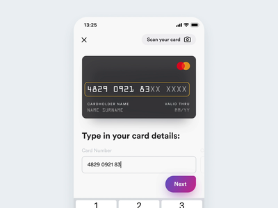 Add a New Credit Card – alternate flow shopping ecommerce user experience add card checkout payment credit card form credit card app design user interface ios app ux ui