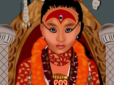 Living Goddess Kumari Vector