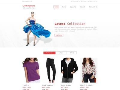 Clothing Store Website Layout