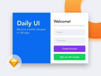 Daily UI 001 - Sign Up colorfully sign in sign up sketch ui daily debut dribbble hello