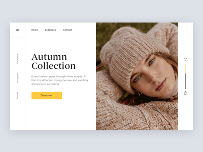Autumn collection ui clean minimalism lookbook grid layout shop fashion collection autumn
