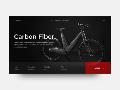 E-Bikes shop ecommerce ebikes bikes landing website webdesign web ux ui sketch interface inspiration grid design dailyui clear clean