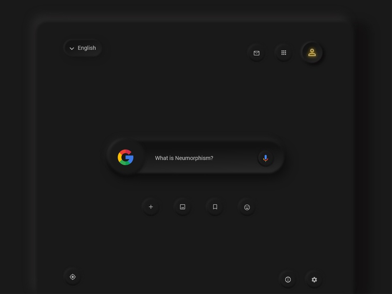 Google Neumorphism dark mode search google neumorphic design