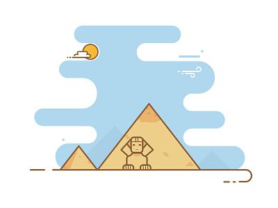 Giza - Egypt sri vector desert egypt giza