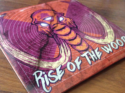 Rise Of The Wood Album Cover Art psychedelic tusks elephant mammoth metal stoner vector designer affinity cd cover album