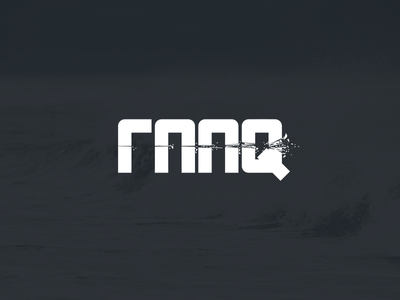 Rejected Logo Raaq kinetic shatter explosion hit particles branding vector affinity logo rejected
