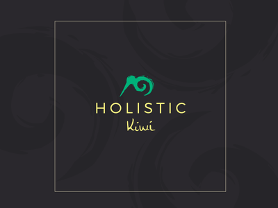 Holistic Kiwi Logo logo natural nature massage zen koru zealand new nz kiwi holistic