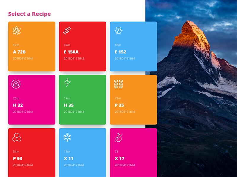 Factory recipes appronto icons ipad touchscreen adobe xd mendix factory recipe