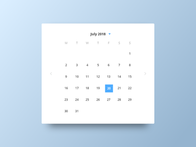 Calander Widget date pick wizard widget selection shadow card time cal calander mendix