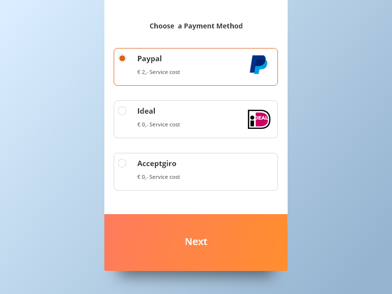 Radio Buttons choice payment button selection mendix radiobutton radio button radio