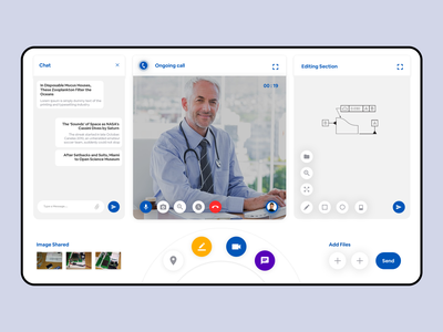Live Streaming Video Call Web Panel live call conference chating editing camera calling web ui clean ui clean white minimal live streaming call location drawing live chat web app web panel video call live