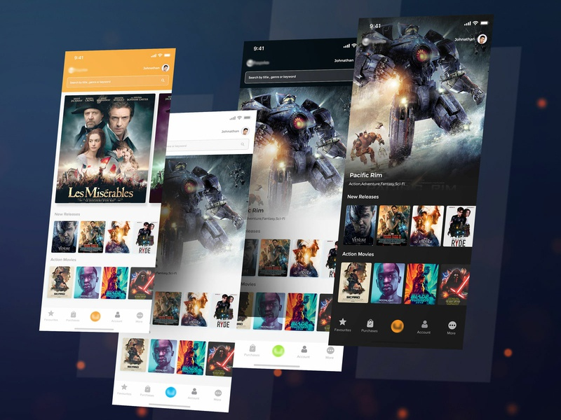 Playing with the themes ! comparison compare feedback reviews movie reviews tickets movie booking shows listing colors contrast movie app movie theme design