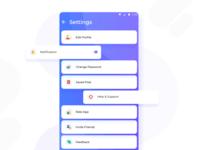 Settings UI Sample For Food App !!