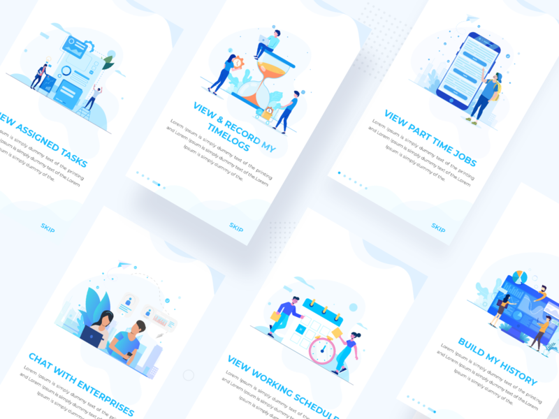 Onboarding Design techugo cards uidesign application design interface design ui onboarding screen illustration concept onboarding