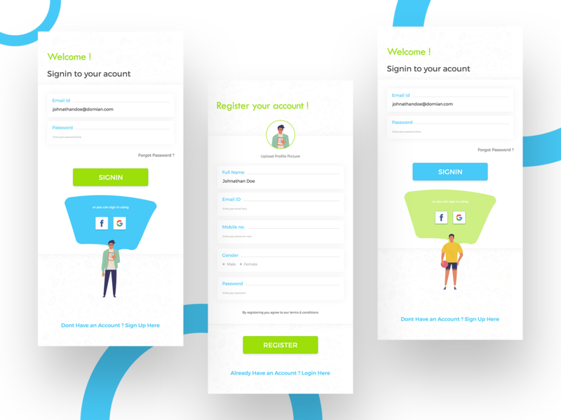 Login Sign Up UI Sample design interface design uiux cards ui sports footballapp input cards login screen sportsapp login signupui signup loginui