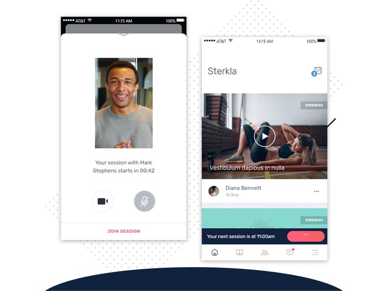 Sterkla Coaching App fitness fitness app coaching app training trainee trainer coaching coach design color app uxdesign application design uidesign interface design cards ui
