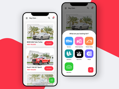 Buying and Selling Cars; App Design car industry app tenders techugo buy cars minimal design ux ui mobile app ios animation cards expand interaction inspiration car app cars