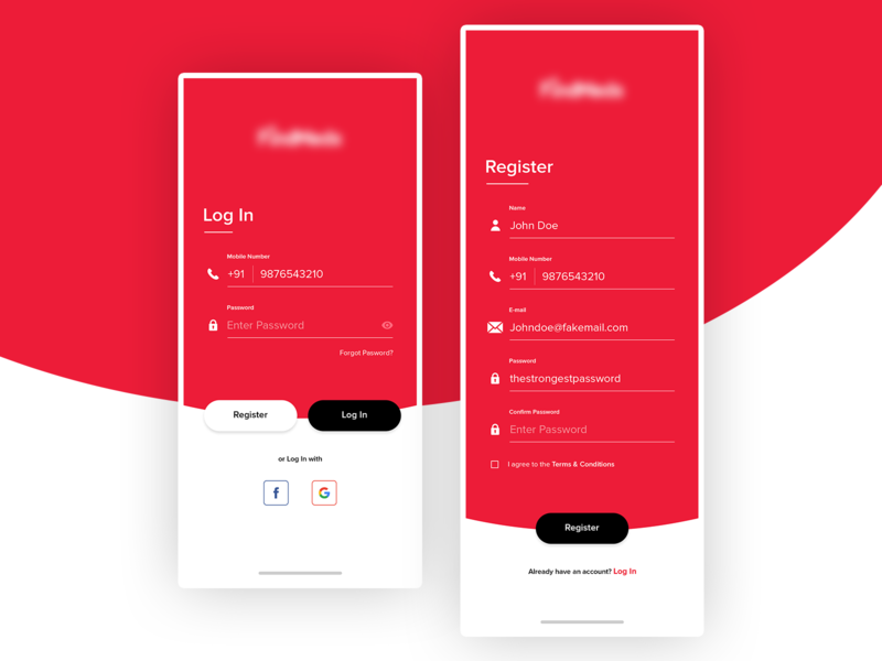 Login UI Design ecommerce app mobile ui signin signup app account cards social login application design register login onboarding uxdesign color ux uidesign interface design ui