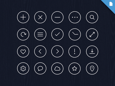 Free Icon Pack - Volume 1 icons psd search app ios7 flat ui download simple iphone social free