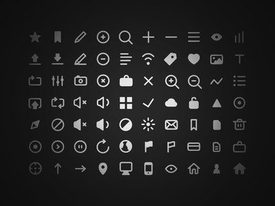 70 Free Icons - Get 'em! icons psd search app navbar ios7 flat clean ui freebie