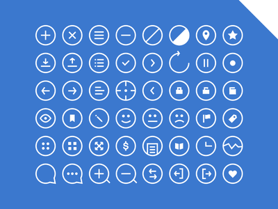 48 Rounded Icons - Get 'em! icons psd search app ios7 flat clean ui rounded download navbar freebie