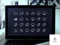 24 Weather Icons - Freebie