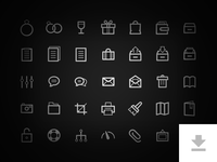 Freebie - 35 Detailed Icons