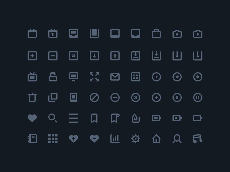 54 sharp icons robin kylander dribbble superstoked burt psd freebie