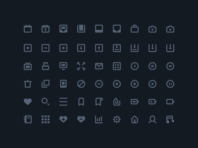 54 Stylish Icons - Freebie
